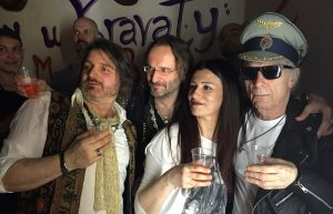 A few of the cast of characters, my new friends at Simply u Kravaty, Luca, Karl, Sara, and Jack